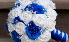 wedding flowers royal blue white blue flower bouquets gardening flower and vegetables