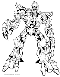 transformers color coloring pages kids cartoon
