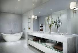 contemporary bathroom ideas grey glass swing door shower screen