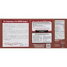 bubba burger original burger 6 ct box walmart com