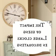 Home Decor Wall Clock Oversized Wall Clock I Clocks Decor Home Decor Surripui Net