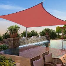 12x12 ft square sun shade sail uv top cover outdoor canopy patio
