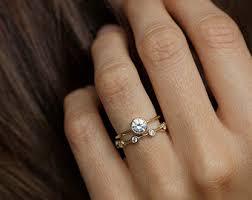 engage diamond ring simple engagement ring etsy