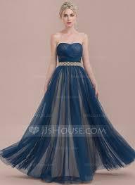 a line princess sweetheart floor length tulle bridesmaid dress