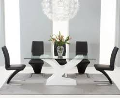 high table with four chairs high gloss white and glass natalie rectangular dining table and four