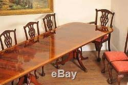 Regency Dining Chairs Mahogany Regency Dining Set Pedestal Table And 10 Chippendale Chairs