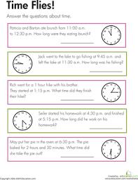 time flies worksheet education com