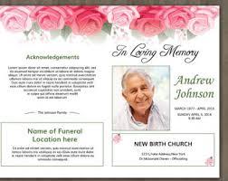 Images Of Funeral Programs Printable Funeral Program Template Memorial Program