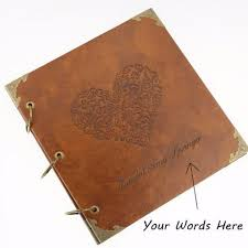 Monogrammed Photo Albums 50 Pages Personalized Monogrammed Engraved Photo Album Wedding