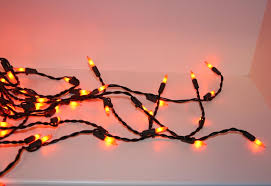 orange halloween lights 100 light black wire w ceramic orange