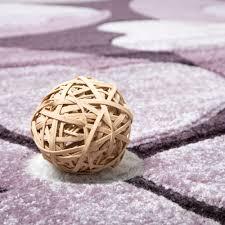 Schlafzimmer Teppich Rund Designer Teppich Hochwertig Modern Blumen Muster Meliert Kleeblatt