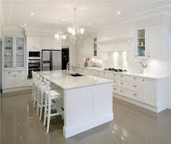 Traditional Kitchen Design Inspiring Traditional White Kitchen Design With Table And Wooden