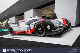 porsche 919 hybrid 2016 porsche 919 hybrid lmp1 le mans race winner on display at the 2017