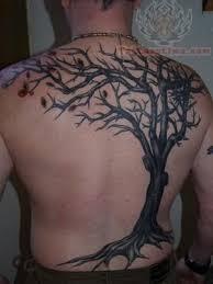 japanese tree back tattoos