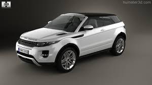 mini range rover black 360 view of land rover range rover evoque convertible 2013 3d