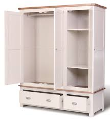 Wardrobes Furniture Ascot Triple Wardrobe With Drawers Wardrobes Bedroom Hallowood