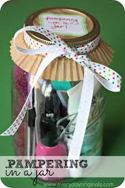 budget friendly gift giving pampering in a jar