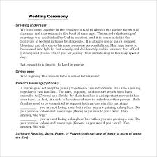 Wedding Program Outline Template Wedding Ceremony Program Template U2013 31 Word Pdf Psd Indesign