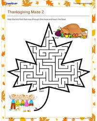 thanksgiving maze 2 free printable mazes for jumpstart