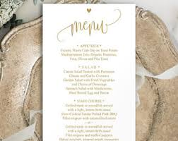 wedding menu template silver gray poster wedding menu diy