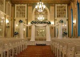 wedding backdrop ideas with columns white wedding columns