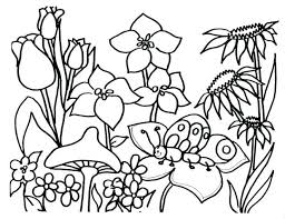 stunning flower garden coloring pages photos style and ideas