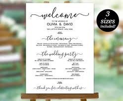 wedding program sign wedding program sign template printable wedding program