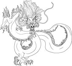 chinese dragon coloring pages simple free printable cute