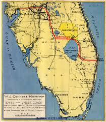 Map Of South Florida by Florida Memory Map Of The W J Conners Highway And Connecting