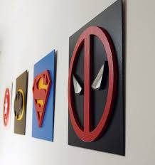 25 unique superhero wall art ideas on pinterest man cave