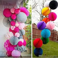 Hanging Decor From Ceiling by 10cm Diameter Paper Honeycomb Flower Ball Handmade Hanging