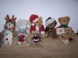 lot of 9 boyds bears bunny bears ornaments small size precious