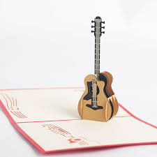 aliexpress buy 3d pop up laser cut vintage cards guitar