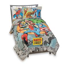 Marvel Double Duvet Cover Vintage Marvel Comics Complete Bedding Ensemble Twin Bed Bath