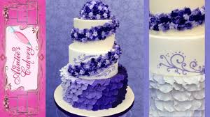 purple petal wedding cake youtube
