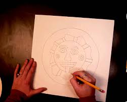 aztec sun drawing 1 of 4 youtube