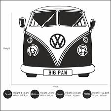 volkswagen van cartoon vw camper van u2013 big paw print wall art