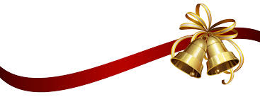 christmas ribbons christmas bells with ribbon transparent png clip image