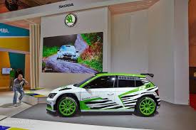 2015 mitsubishi rally car 2015 skoda fabia r5 races into essen and the rally world video