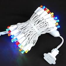 white wire wide angle assorted multi colored 50 bulb led