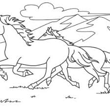 free coloring book pages horses archives mente beta