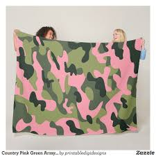 army pattern fleece country pink green army camo camouflage pattern fleece blanket