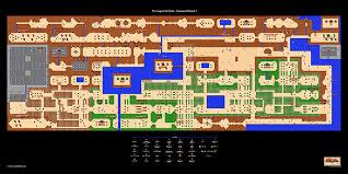 legend of zelda map with cheats the legend of zelda 1st quest overworld 24 x 12 poster nintendo