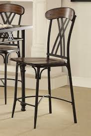 Furniture Wooden And Metal Counter by Homelegance Loyalton Counter Height Chair Wood Metal 5149 24