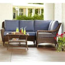 Outdoor Sofa With Chaise Hampton Bay Patio Conversation Sets Outdoor Lounge Furniture
