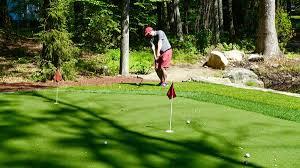 Backyard Golf Course by One Man U0027s Amazing Backyard Golf Setup Pga Com