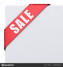 ribbon on sale sale corner ribbon banner isolated white background rendering