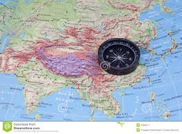 Southeastern Asia Map by Compass And South East Asia Map Royalty Free Stock Photography