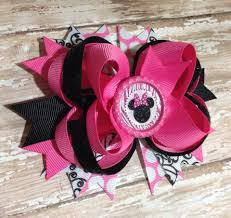 minnie mouse hair bow minnie mouse hair bow pink baby headband infant headband