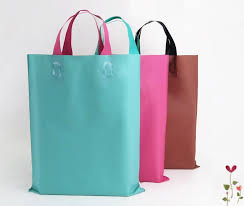 big gift bags 45 50cm pink blue design plastic gift bag clothes jewelry
